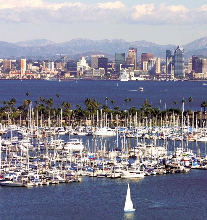 San Diego Harbor at California